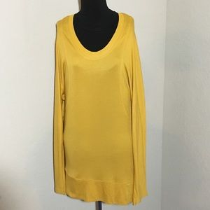 BCBG Maxazria Long Sleeve Tunic Mustard Sz L